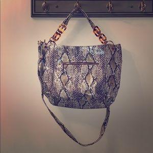 Snake skin look purse